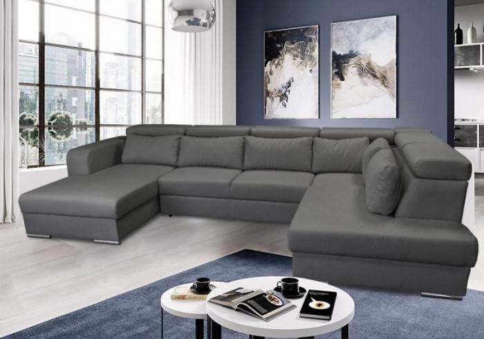 Rosie U formájú szövetkanapé - U alakú kanapé
