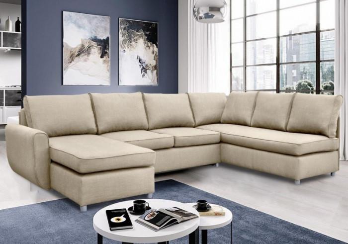Paloma U formájú sarok ülőgarnitúra - Szövet kanapék