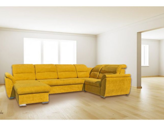 Virginia U alakú kanapé